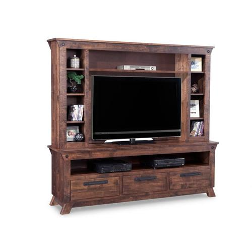 Handstone - Algoma HDTV Unit with Hutch with 54'' TV Opening