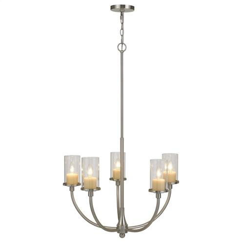Jervis Metal Chandelier With Glass Shades