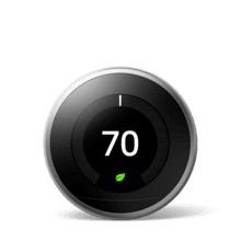 Nest Learning Thermostat 3rd Gen Stainless Steel 1 Pack