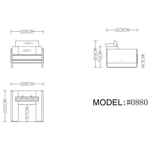 Divani Casa Prim Modern Grey Leather Sofa Set