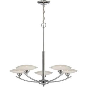 5-lite Ceiling Lamp, Chrome/frost Glass, Type Jcd/g9 40wx5