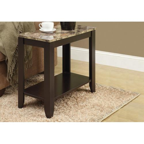 Gallery - ACCENT TABLE - ESPRESSO / MARBLE TOP