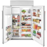 "Cafe Appliances 48"" Smart Built-In Side-by-Side Refrigerator with Dispenser"