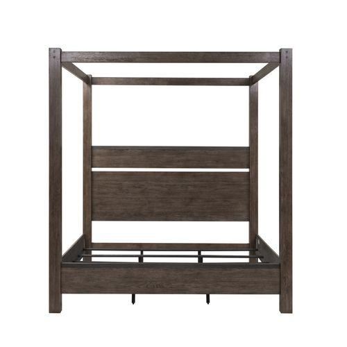 King California Canopy Bed, Dresser & Mirror, Night Stand