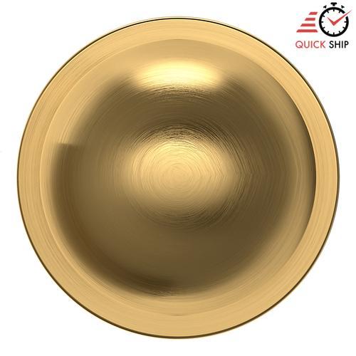 Baldwin - Lifetime Satin Brass 5041 Estate Knob with 5046 Rose