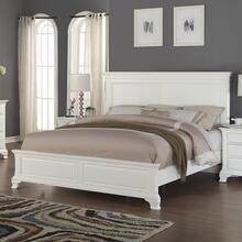 Laveno 012 White Wood Bedroom Set - QUEEN & KING Bed Dresser Mirror Night Stand, King