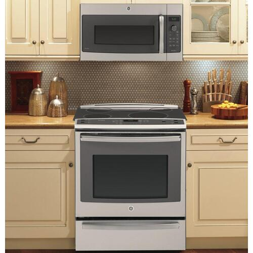 "CLOSEOUT GE Profile™ Series 30"" Slide-In Front Control Induction and Convection Range with Warming Drawer"