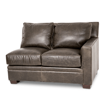 Oxford Leather RAF LoveSeat in Grey_Espresso Espresso