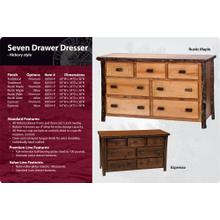 Hickory 7 Drawer Dresser