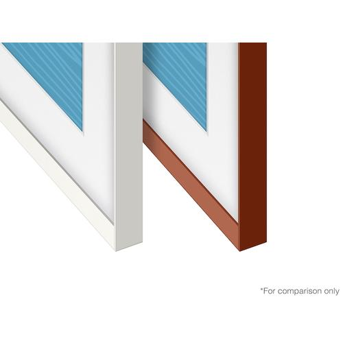 "Samsung - (2021) 55"" The Frame Customizable Bezel - Beveled White"