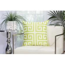 """Outdoor Pillows As047 Apple Green 20"""" X 20"""" Throw Pillow"""