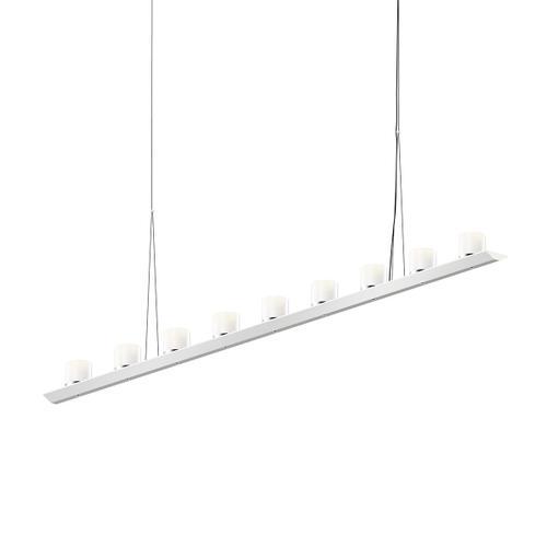 "Sonneman - A Way of Light - Votives LED Bar Pendant [Size=6', Color/Finish=Bright Satin Aluminum, Shade Size=3"" height x 3"" diameter]"