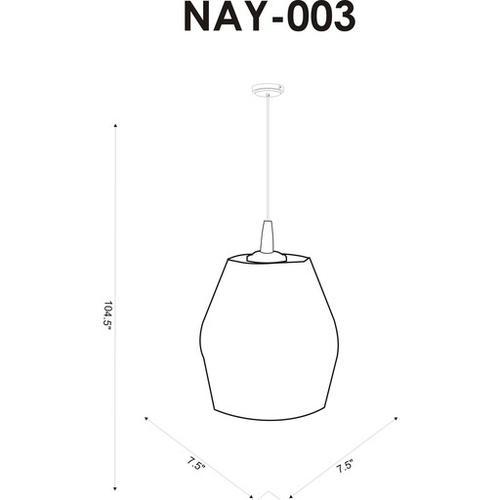 """Nayla NAY-003 8""""H x 7.5""""W x 7.5""""D"""