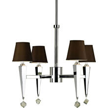 AF Lighting 6687 4-Light Chandelier- Chocolate Shades, 6687-4H