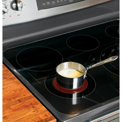"""GE Profile Series 30"""" Free-Standing Electric Convection Range with Warming Drawer"""