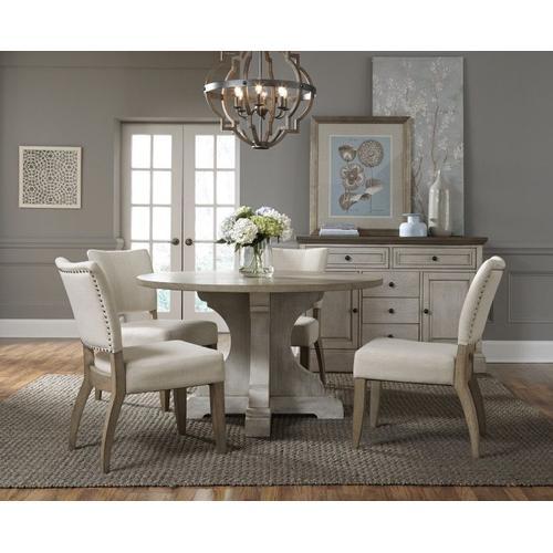 Standard Furniture - Dakota Round Pedestal Dining Table, Two Tone Finish