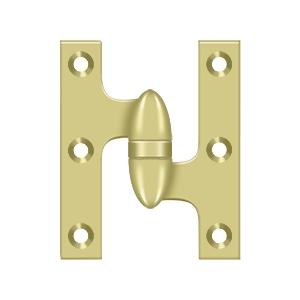 "Deltana - 3"" x 2-1/2"" Hinge - Polished Brass"