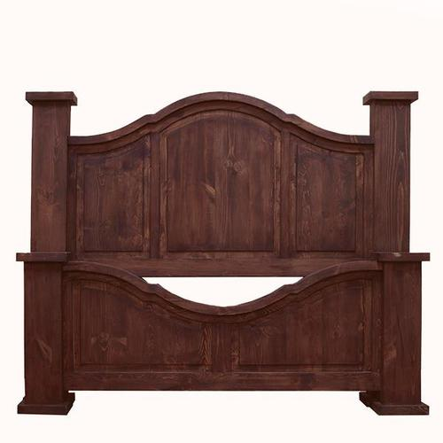 L.M.T. Rustic and Western Imports - Queen Arched Medio Bed