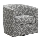Milo Swivel Accent Chair, Pewter Gray U5029c-04-43a