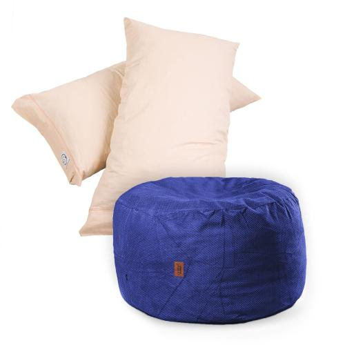 Pillow Pod Footstools - Chenille - Navy