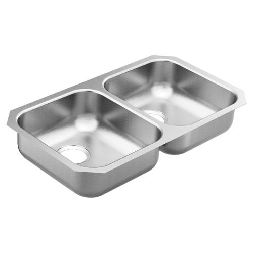 2000 Series 31.75 x 18.25 stainless steel 20 gauge double bowl sink