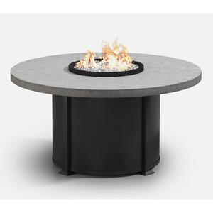 """54"""" Round Dining Fire Table Ht: 27.5"""" Valero Aluminum Base (Indicate Top, Frame, & Side Panel Color)"""