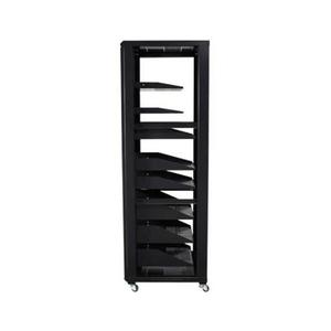 """Sanus - Black 70.5"""" Tall AV Rack 36U Component rack for home theater equipment"""