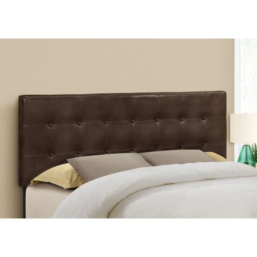 Gallery - BED - QUEEN SIZE / BROWN LEATHER-LOOK HEADBOARD ONLY