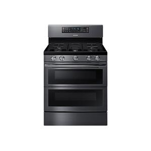 5.8 cu ft. Smart Freestanding Gas Range with Flex Duo™ & Dual Door in Black Stainless Steel - FINGERPRINT RESISTANT BLACK STAINLESS STEEL