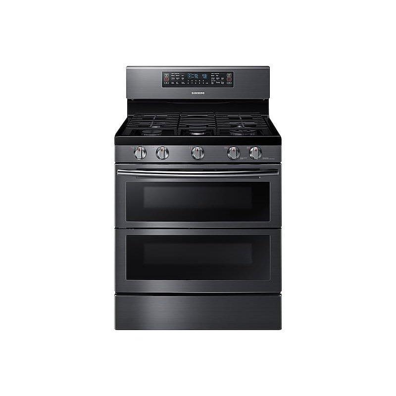 5.8 cu ft. Smart Freestanding Gas Range with Flex Duo™ & Dual Door in Black Stainless Steel