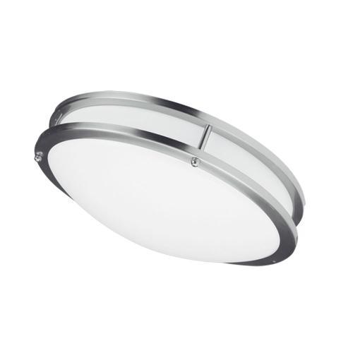 "Product Image - Ceiling Flush 26w 410mm (16""), Satin Chrome"