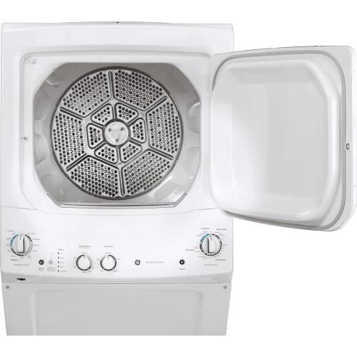 """GE 24"""" Unitized Spacemaker Washer and Gas Dryer White - GUD24GSSMWW"""