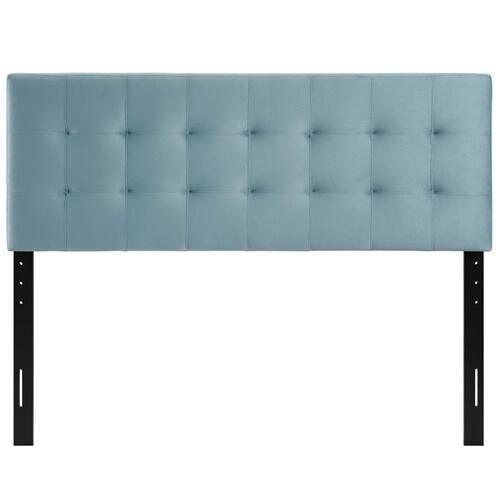 Modway - Lily Biscuit Tufted Full Performance Velvet Headboard in Light Blue