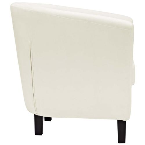 Prospect Performance Velvet Armchair in Ivory