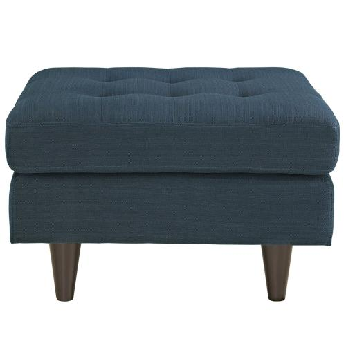 Empress Upholstered Fabric Ottoman in Azure