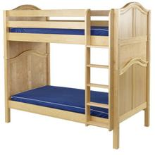 High Bunk w/ Straight Ladder : Twin : Natural : Curved