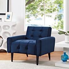 Delve Performance Velvet Armchair in Navy
