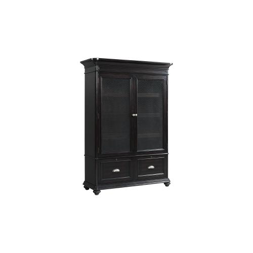 Door Bookcase - Kohl Black Finish