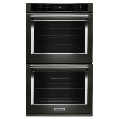 "27"" Double Wall Oven with Even-Heat™ True Convection - Black Stainless Steel with PrintShield™ Finish"