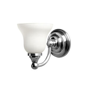 Kingston Single Wall Light With Frosted Glass Shade