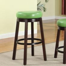 Set of Two Fun Color Wooden Swivel Barstools Bar Height Lime Green