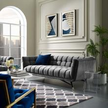 See Details - Adept Performance Velvet Sofa in Gray