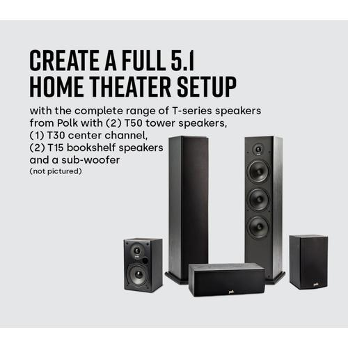 Home Theater and Music Floor Standing Tower Speakers in Black