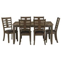 See Details - Canaan Brown 7-Pack Table And Chairs