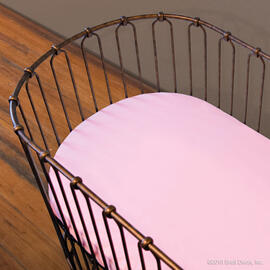 Classic Oval Crib Sheet Light Pink