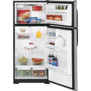 GE® 16.6 Cu. Ft. CleanSteel Top-Freezer Refrigerator