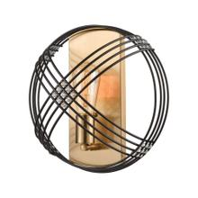Concentric 1-Light Sconce in Oil Rubbed Bronze with Clear Crystal Beads