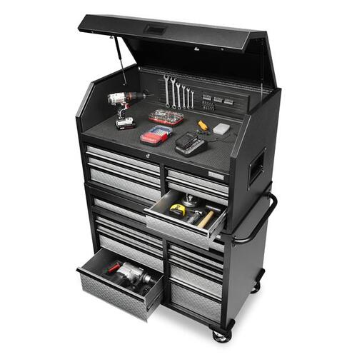 Premier 41 inch 15-drawer Mobile Tool Chest Combo
