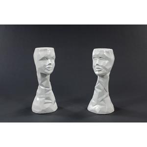 """Artmax - Sculpture Vase 9.5x8.5x20"""""""