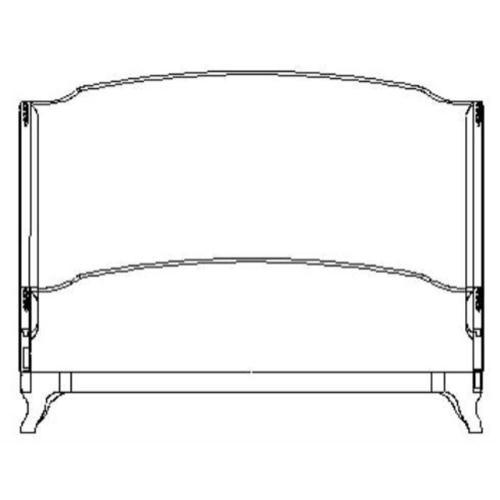 US Cali King Louis XV bed (Mahogany/Velvet fuchsia)